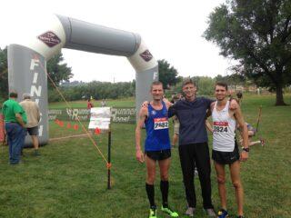 Tiidrek Nurme pärast Colorado võistlust koos Tanner Fruit ja Mark MIschiga. Foto: erakogu