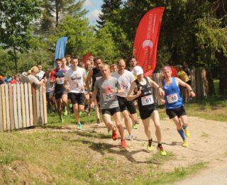 Esimese Setomaa jooksu start. Foto: Võrumaa Spordiliit.