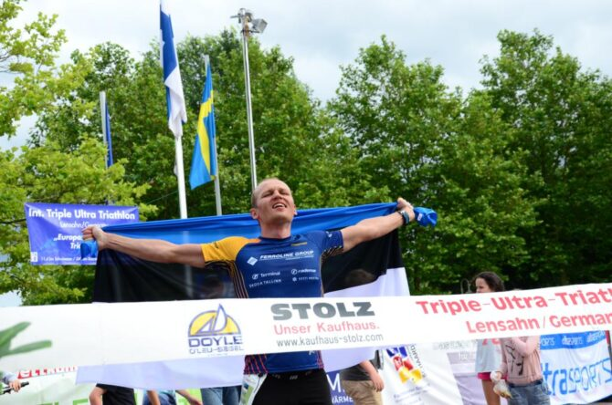 Rait Ratasepp finišeerimas. Foto: TSV Lensahn