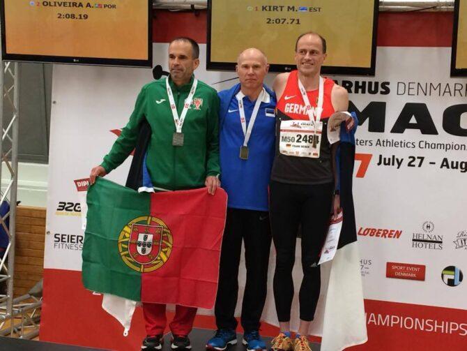 Margus Kirt 800 m jooksu autasustamisel. Foto: Andrus Mutli