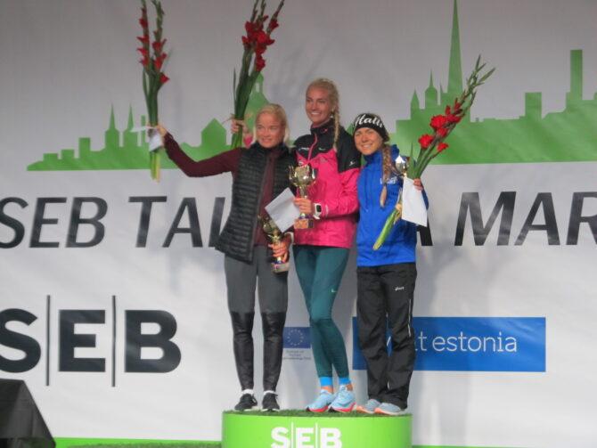 Kolm kiiremat naist. Liina Luik, Liina Tšernov ja Kaia Lepik. Foto: Ahto Jakson