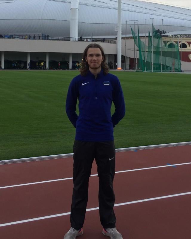Rasmus Kisel Minski staadionil. Foto: Kristel Berendsen