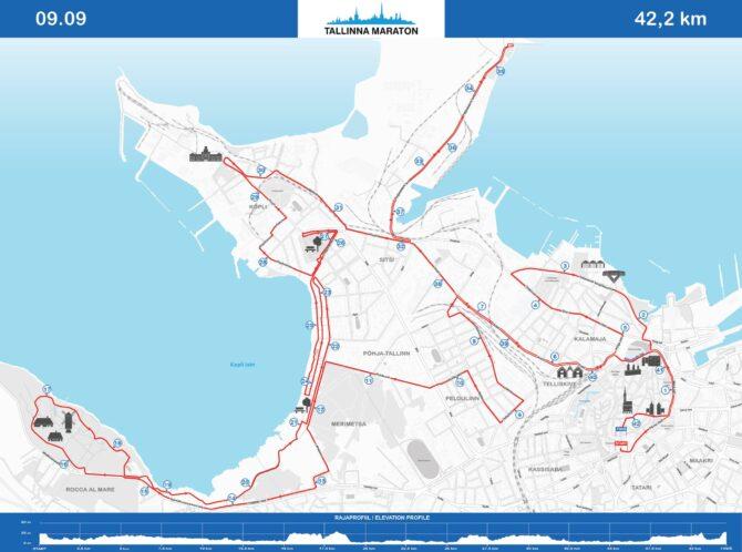 Tallinna Maraton 42,195 km rada.