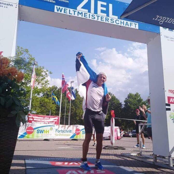 Rait Ratasepp finišis. Foto: erakogu