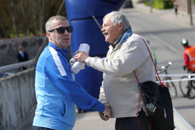 Enn Sellik (paremal) koos treener Harry Lembergiga, kes on Tiidrek Nurme viinud Selliku nimel olevale 5000 m Eesti rekordile kõige lähemale. Foto: Postimees/Scanpix