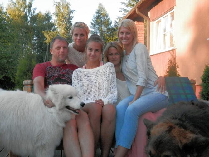 Deivi Šadeiko koos perega.
