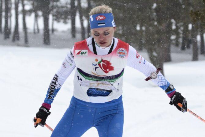 Daisy Kudre suusaorienteerumise EMil. Foto: Eesti Orienteerumisliit