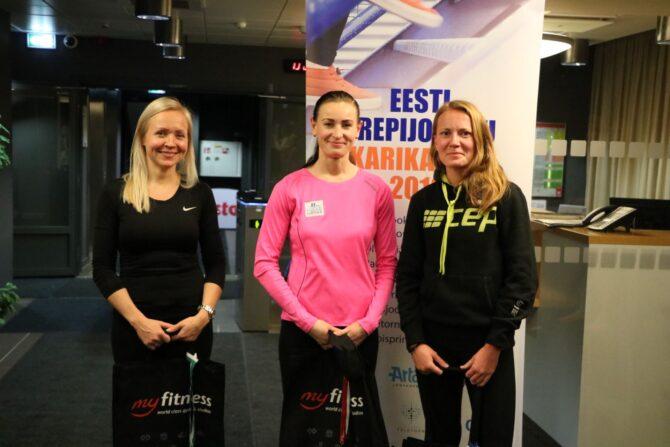 Raadiomaja trepisprindi kolm kiiremat naist. Foto: Erkki Viljarand