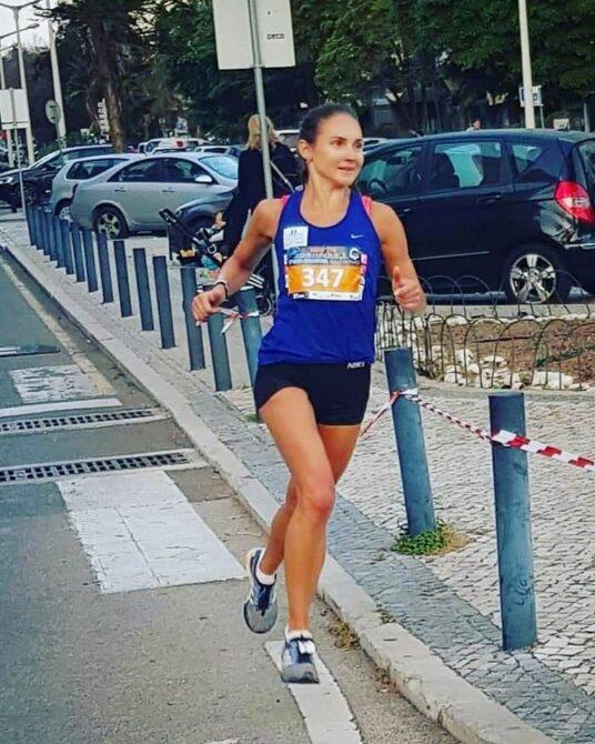 Kaisa Kukk jooksmas Faro poolmaratonil. Foto: erakogu