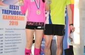Trepijooksu karikasarja võitjad Merlyn Valma ja Rauno Tiits. Foto: Erkki Viljarand