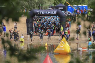 Tartu triatloni start. Foto: Helga-Liisa Oselin
