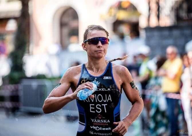 Kaidi Kivioja Tšehhis jooksudistantsil. Foto: Rahvsuvaheline Triatloni Liit