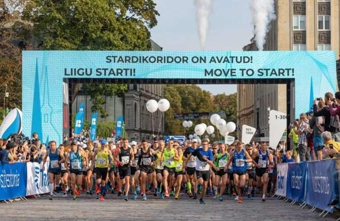 Tallinna Maratoni start möödunud aastal. Foto: Tallinna Maraton