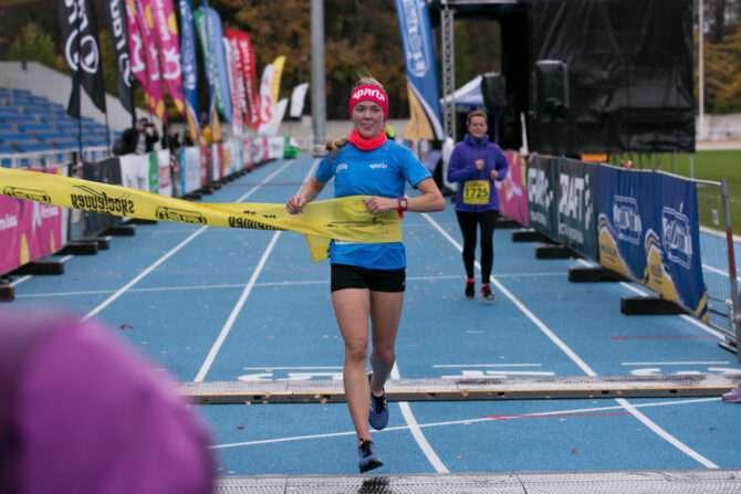 Maria Veskla võitjana finišis. Foto: Laura Tammesoo