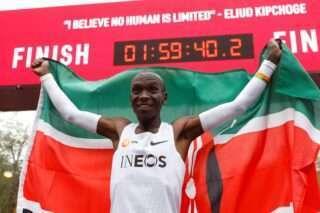 Keenialane Eliud Kipchoge täitis eesmärgi. Foto: Scanpix