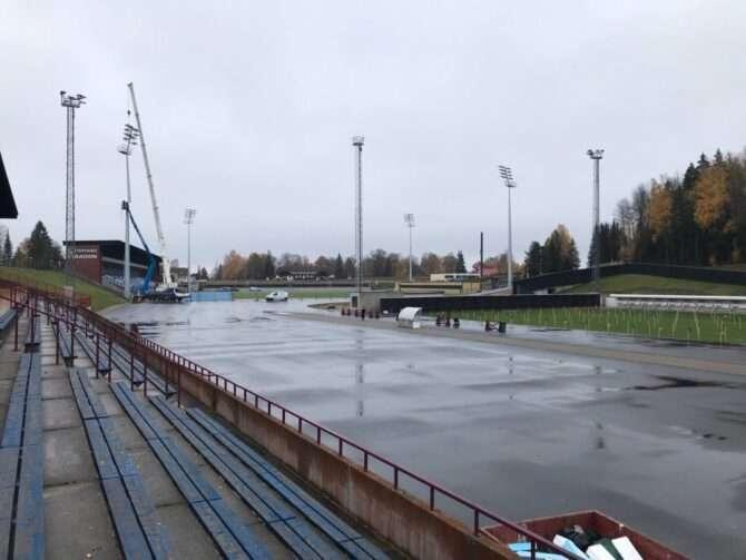 Tehvandi staadioni uuendustööd edenevad jõudsalt. Foto: ELSF