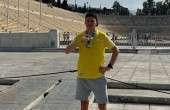 Veiko Sulev Ateena maratoni medaliga. Foto: erakogu