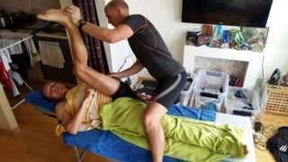 Füsioterapeut Timo Müür ja ultratriatleet Rait Ratasepp. Foto: erakogu
