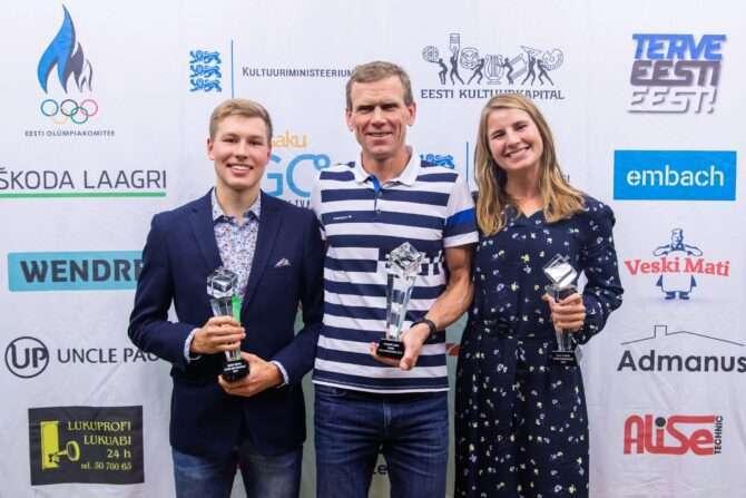 Henry Räppo, Margus Tamm ja Kaidi Kivioja. Foto: Eesti Trialoniliit