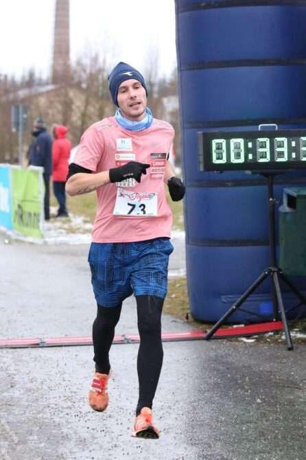 Dmitri Aristov Jõulujooksu võitmas. Foto: Merike Annuk
