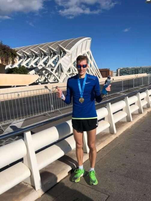 Raido Mitt pärast Valencia maratoni. Foto: erakogu