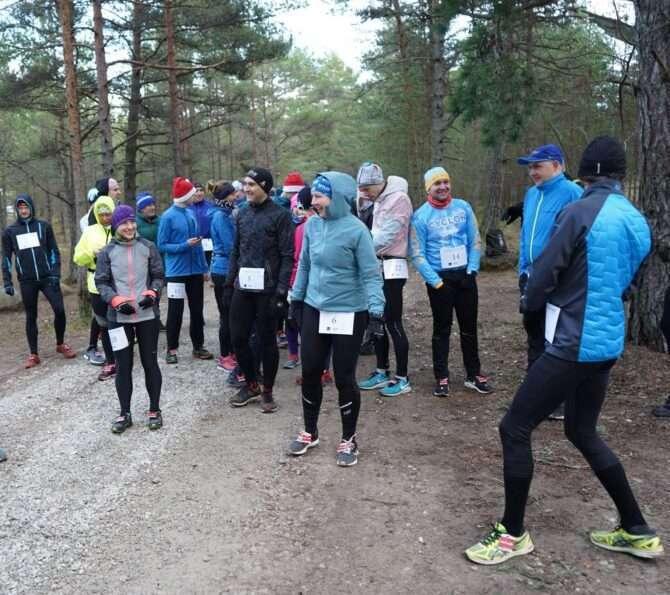 Ultrajooksjad Meremõisas enne starti. Foto: Estonian Ultrarunners Team