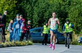 Rapla jooksu 10 km finiš, kuhu kõige kiiremini jõudis Tiidrek Nurme. Foto: Siim Solman